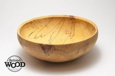 Wooden Bowl Hand Wood turned Pecan Spalted with beautiful