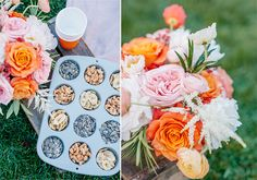 Friendsgiving picnic details - light snacks and bright florals!