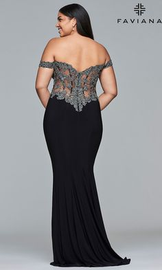 7b685e4f7 Celebrity Prom Dresses, Sexy Evening Gowns - PromGirl: FA-9437 Plus Size  Gowns