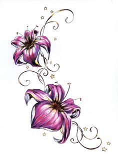 such a beautiful flower tattoo would be so pretty on foot or side | best stuff