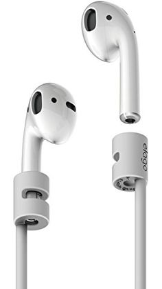 elago AirPods Strap [Light Grey] - [Compact][Lightweight][Ideal Length] – for Apple AirPods