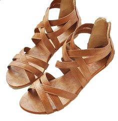 Sandals Summer 2016 Gladiator Sandals Summer Style Flats Shoes (scheduled via www.tailwindapp.com) - There is nothing more comfortable and cool to wear on your feet during the heat season than some flat sandals.