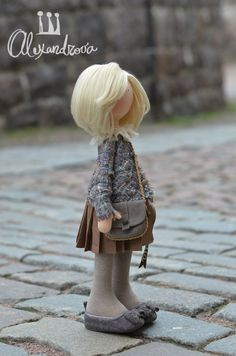 little girl on street