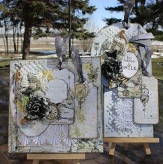 Shabby Card and Tag set using Prima's Epiphany Collection.