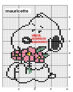 Beaded Snoopy, Cross Stitch Freebies, Charlie Brown Christmas, Chart Design, Snoopy And Woodstock, Perler Patterns, Plastic Canvas Patterns, Le Point, Filet Crochet
