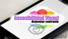 Cómo Aumentar el Contraste de Accesibilidad Visual en iPhone y iPad