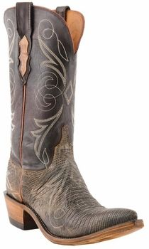 Womens Lucchese Since 1883 Bark Lizard N4088