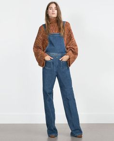 Image 1 of DENIM DUNGAREES from Zara