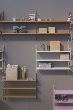 string shelves // milan design week 2013