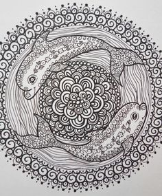 ZEN Mandalas Coloring Book Zen Tangle Style Art Door ChubbyMermaid