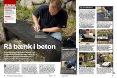 Betonbænk - sådan støber du din egen betonbænk | Gør Det Selv