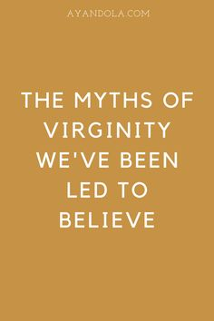 What are the myths of virginity? There are many misconceptions that we seem to have about abstinence as believers. Living single as a Christian woman is already challenging but we can't live with this misconception. #christianwomen