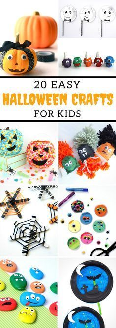 20 Easy Halloween Crafts For Kids #halloween #crafts