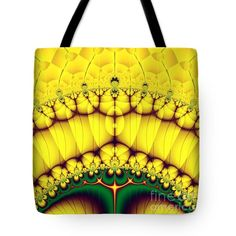 All #ToteBags - Buttercream Sunrise Over The Meadow #Fractal Abstract Tote Bag by Rose Santuci-Sofranko #sale