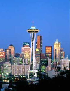 With a trip up to the space needle to see the beautiful skyline of Seattle, we are engaged : )