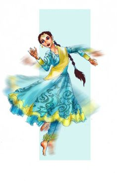28 Ideas for dancing drawings kathak Dance Paintings, Indian Art Paintings, Watercolor Paintings, Kathak Costume, Kathak Dance, Indian Illustration, Portrait Illustration, Dancing Drawings, Indian Classical Dance