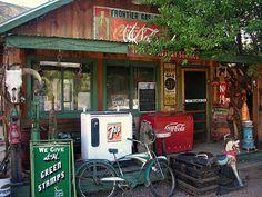 Vintage gas station museum in Embudo, NM.