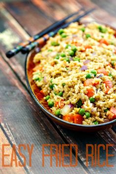 Short on time, but looking for a yummy dinner your family will love? Try this Easy Fried Rice recipe that comes together quickly and is sure to please even the pickiest of eaters.