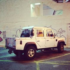 Land Rover Defender 110 with bed
