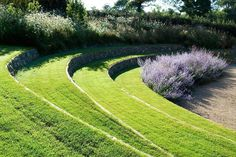 Landscape Focused: landscape, garden design ideas — Projects by Dan Pearson Studio. Via Green Home. Sloped Garden, Garden Pool, Terrace Garden, Lawn And Garden, Green Terrace, Landscape Architecture, Landscape Design, Garden Design, Tiered Landscape