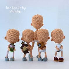 Handmade by Allibiya. Tiny sculpture, unusual gifts for women. Crochet Doll Pattern, Crochet Toys Patterns, Amigurumi Patterns, Stuffed Toys Patterns, Amigurumi Doll, Plush Dolls, Yarn Dolls, Knitted Dolls, Crochet Dolls