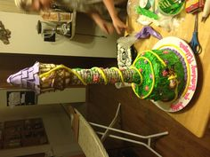 My daughters birthday cake. It was a tangled themed party and this cake was a huge hit!