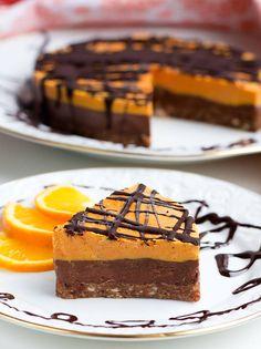 Roher Schoko Orangen Kuchen - Healthy On Green