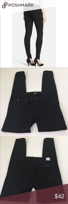Hudson Krista Super Skinny Black Jeans, 27 NWOT Hudson Super Skinny Black Jeans in size 27, NWOT. Flat lay measure of the waist is approximately 15. Rise is approximately 8, inseam is approximately 29.75, and leg opening is approximately 5.25. Made from 92.5% cotton, 5% polyester, and 2.5% Lycra. Please look at all photos and ask if you have any questions. Hudson Jeans Jeans Skinny