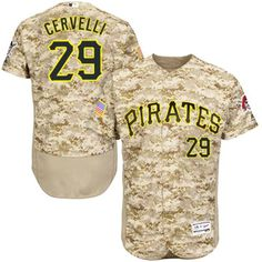Pirates #29 Francisco Cervelli Camo Flexbase Authentic Collection Stitched MLB Jersey