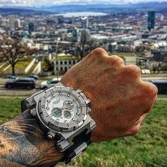 Big shoutout to @sandro_desimon for this badass pic of his new #timepiece Zeus 3.0 using my discount code INKANDFITNESS10  #Repost @sandro_desimon  TIME is true LUXURY  THX @swoleoclock and @inkandfitness for this wicked timemaschine  #time #luxury #swoleoclock #clock #fit #fitness #tattoo #zurich #switzerland #grind #humble #beautiful #fitfam #fitspo #art #photography #bodybuilding #NOLIMITS #NOEXCUSES #thegetawaylife