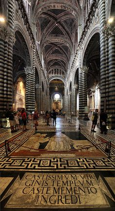 Duomo (Siena Cathedral) - Siena, Italy by Batistini Gaston. Karens comment....Truly one of the most beautiful cathedrals I have ever visited!