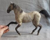Custom made needle felted sculpture of your horse, gift for you or your horse lover by Noelle Stiles