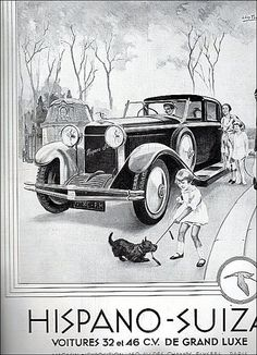 the 1930s-ad for Hispano-Suiza.