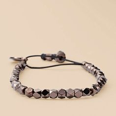 FOSSIL® Jewelry Bracelets:Women Faceted Stretch Bracelet – Brown JA5497