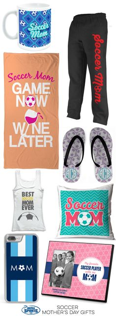 It's time to start thinking of that perfect Mother's Day gift for your favorite soccer mom! From T-shirts, to iPhone cases, and picture frames, we're sure that you'll find a gift that mom will love!
