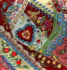 crazy quilt embroidery | Crazy Quilting and Embroidery Blog by Pamela Kellogg of Kitty and Me ...