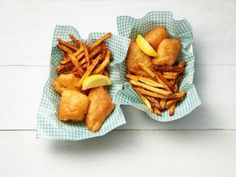 Get Beer-Battered Fish and Chips Recipe from Food Network