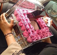 rosas caja de vidrio