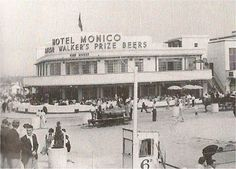 The Monico Hotel in Southend-On-Sea Essex England shortly after it opened, 1938 Dr Feelgood, Essex England, Seaside Art, Punk Art, Feel Good, Art Deco, Street View, Island, Architecture