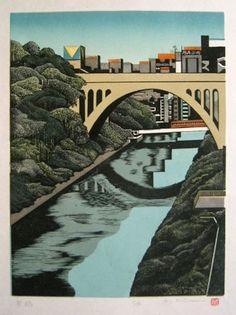 Hijiri bridge, by Ray Morimura, 1991.
