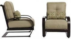 Abbot Spring Motion Deep Seat Chairs - Set of 2