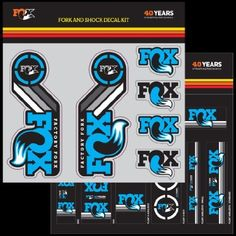 Bike Suspension Service Parts - FOX Decal 2015 AM Heritage Fork and Shock Kit Cyan Blue -- See this great product.