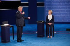 Here's how we analyzed in real time the second presidential debate between Hillary Clinton and Donald J. Trump.  Caption: Hillary Clinton and Donald J. Trump