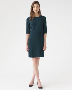 Luxe Tailoring Crepe Dress