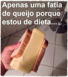 Só uma fatia !!! #dieta kkkkk