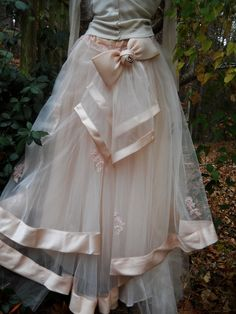 Gorgeous blush-colored vintage tulle skirt