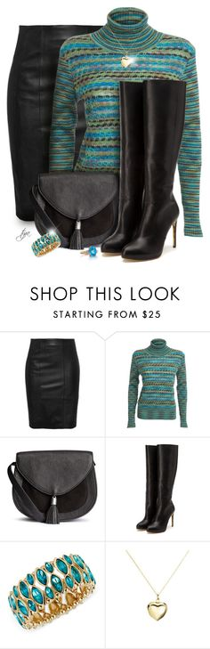 """""""Slip Into Leather"""" by oregonelegance ❤ liked on Polyvore featuring Missoni, Rupert Sanderson, Haskell, Argento Vivo and Belk & Co."""