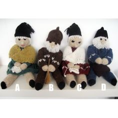 Dolls made by an Icelandic lady and sold on the SoapViking.com site.