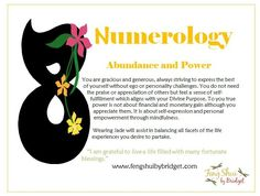 Feng shui by Bridget's Numerology #8