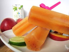 Peach Tea Ice Pops with SEVA Maple Water Ice Pops, Water Recipes, Popsicles, Mango, Frozen, Peach, Fruit, Cooking, Desserts